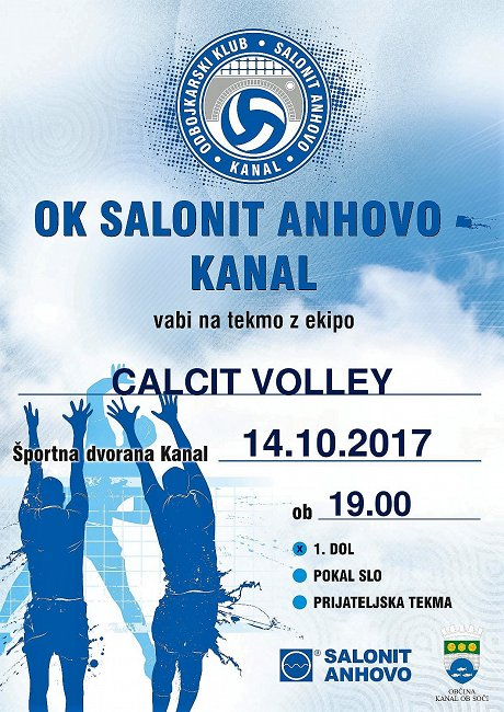 Salonit Anhovo vs. Calcit Volley 14.10.2017