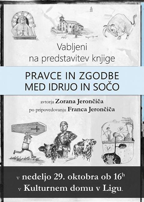 Vabilo knjige Jerončič