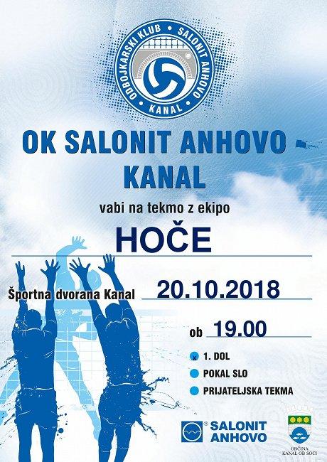 Salonit Anhovo vs. Hoče 20.10.2018
